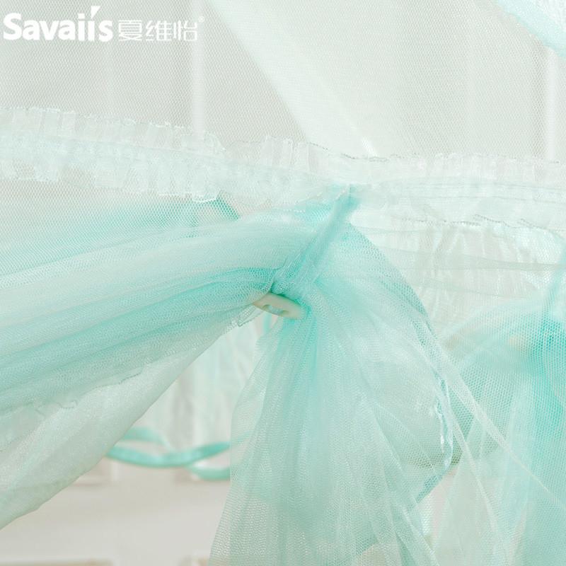 夏维怡 米色粉色蓝色玻璃纤维管蚊帐蒙古包式通用 蚊帐