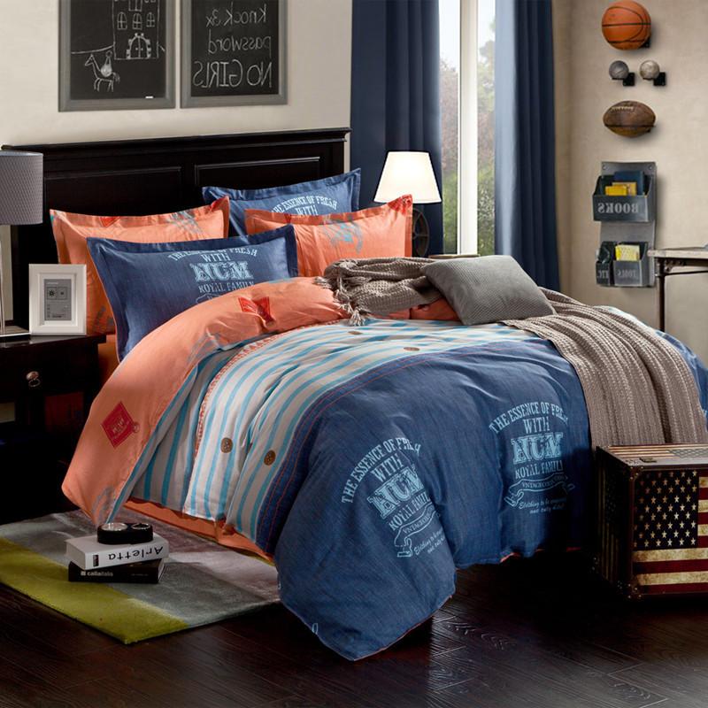 朵罗塔家纺活性印花简约现代植物花卉床单式简约风床品件套四件套