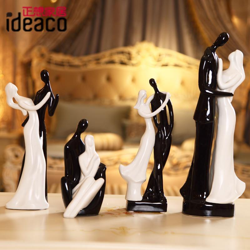 正想陶瓷人物桌面摆件姻缘简约现代摆件