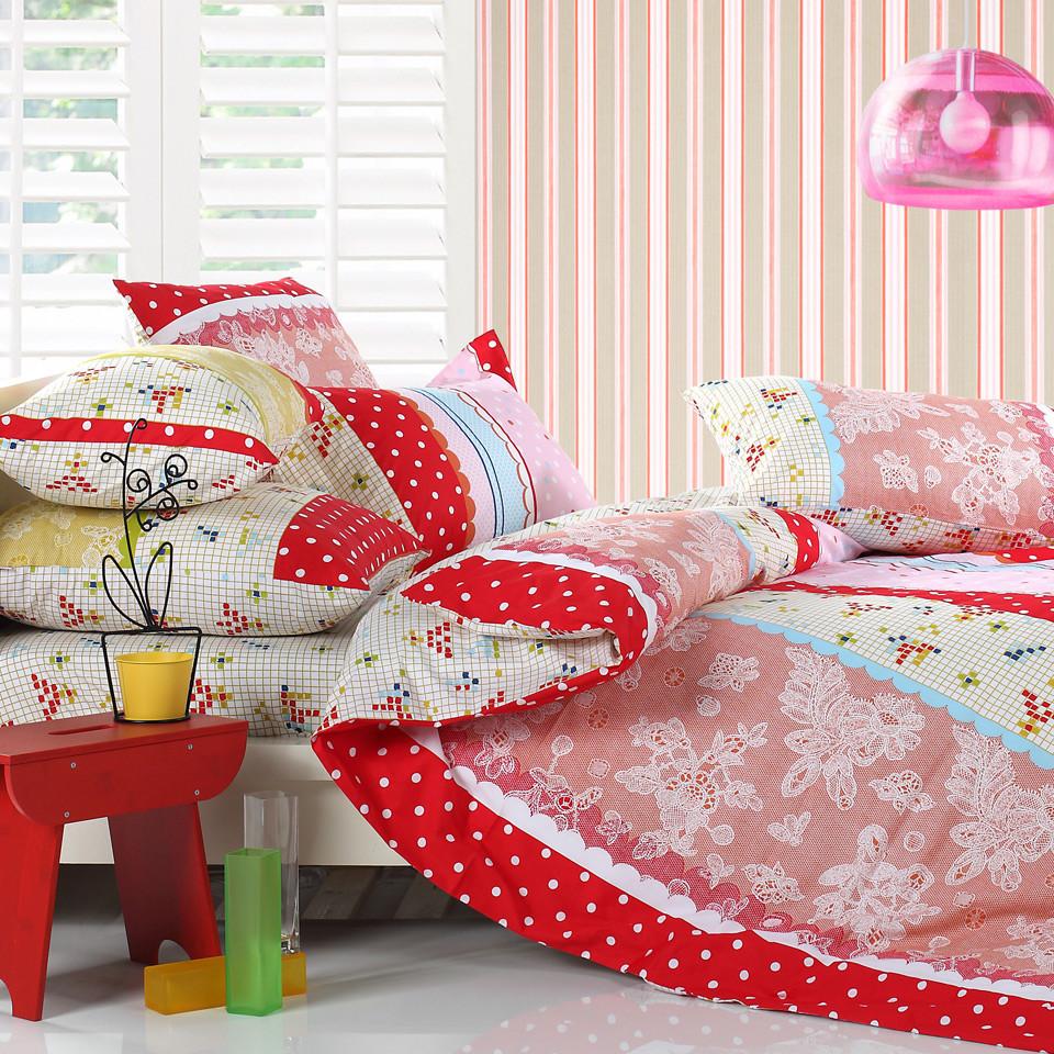 多喜愛 床笠款床單款歐式涂料印花斜紋幾何圖案床單式歐美風 床品件套四件套