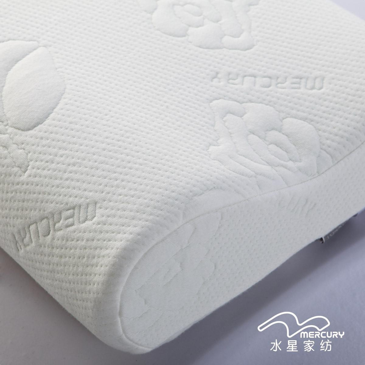 水星斜纹布棉布记忆棉长方形枕头