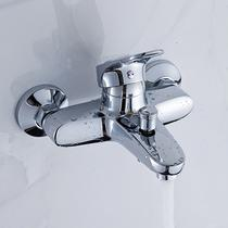 铜固定支座单把双控单花洒浴缸龙头 龙头