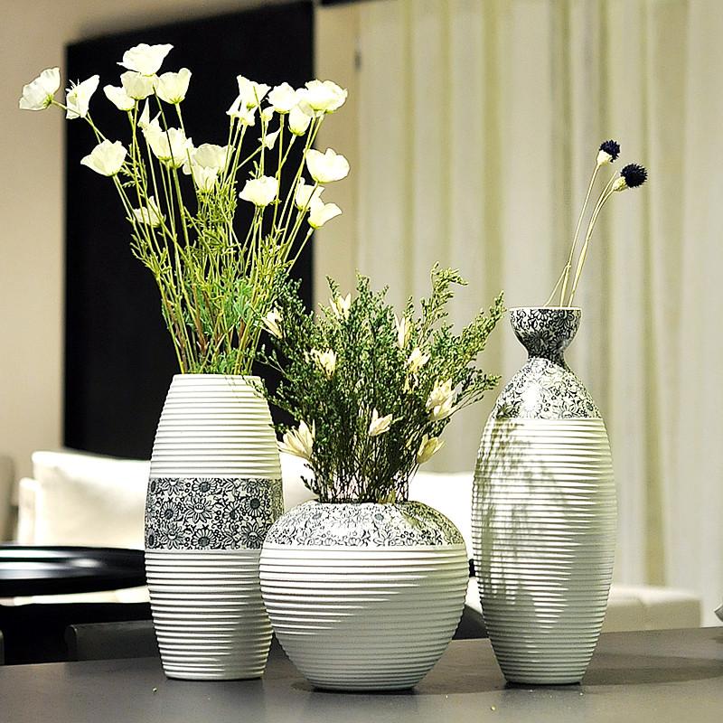 JK 君凯陶瓷 陶瓷台面SJ-06花瓶大号简约现代 花瓶