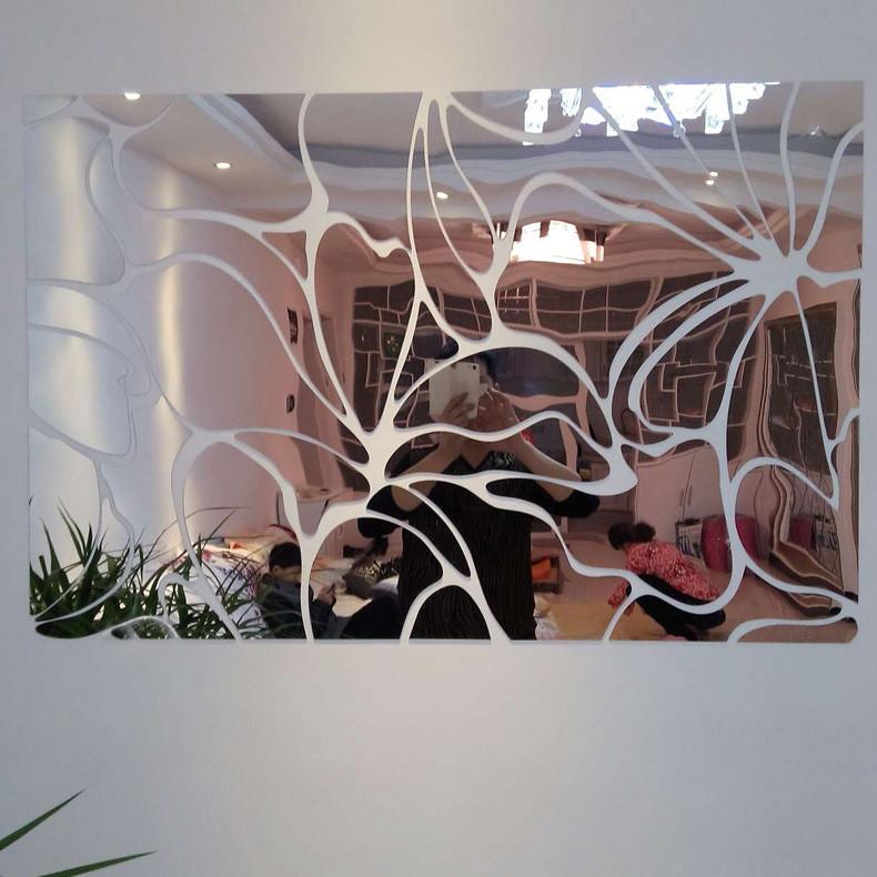 空间艺术银镜金镜镜面日光斑驳墙贴抽象图案墙贴