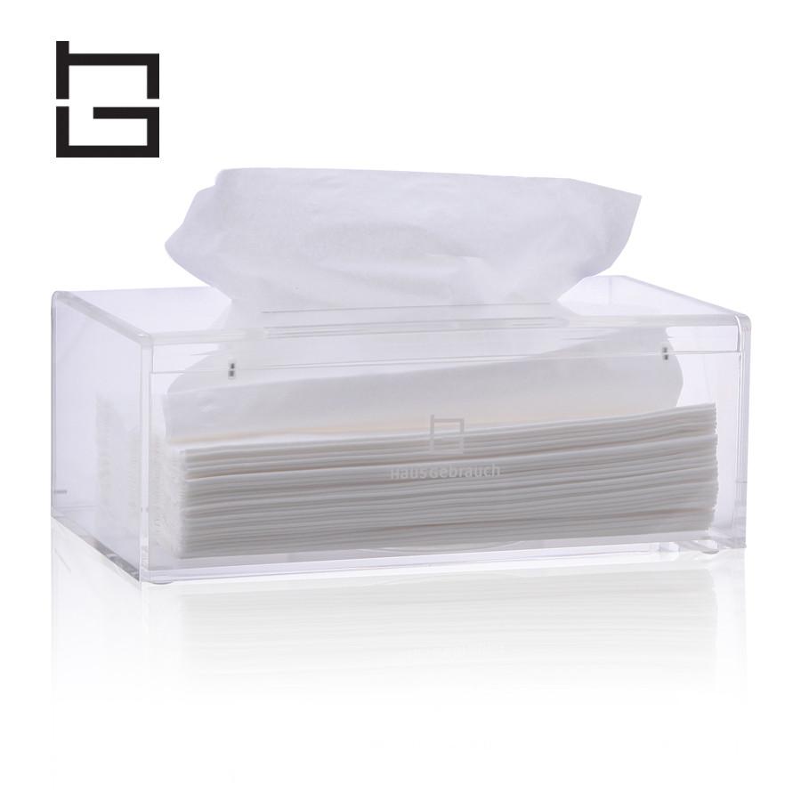 绿色透明色灰色纸巾盒