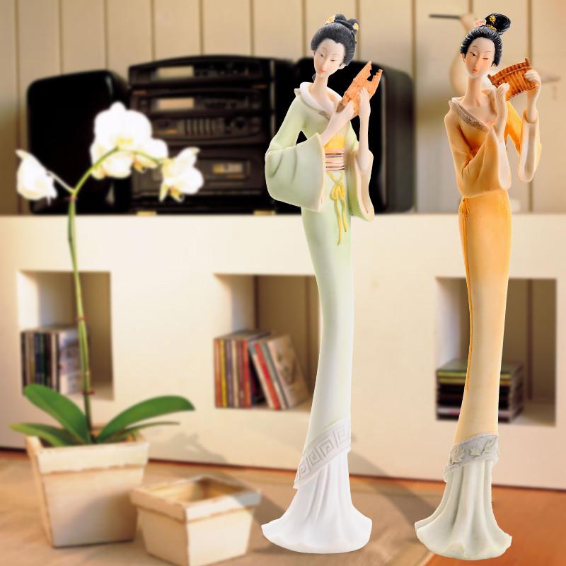 正月娇树脂人物桌面摆件姻缘简约现代摆件