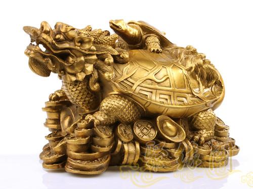 聚缘阁铜动物招财大龙龟摆件