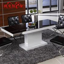 人造板散装密度板/纤维板玻璃支架结构长方形简约现代 餐桌
