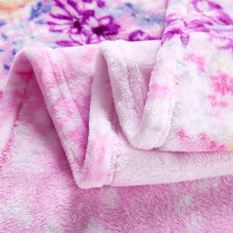 伊心愛 2%-3%珊瑚絨毯一等品冬季植物花卉現代中式 FLR3301305毛毯