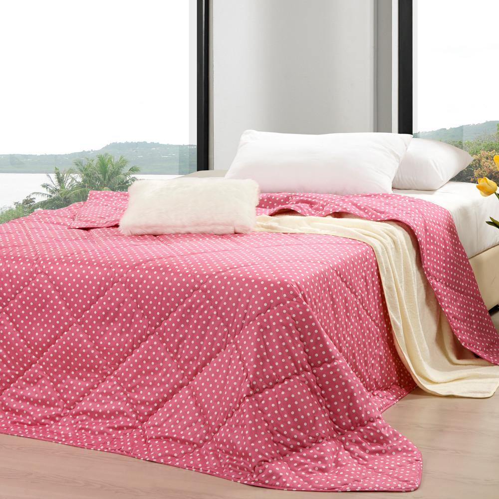 黛富妮绗缝空调被夏凉被斜纹普通全棉化纤被子