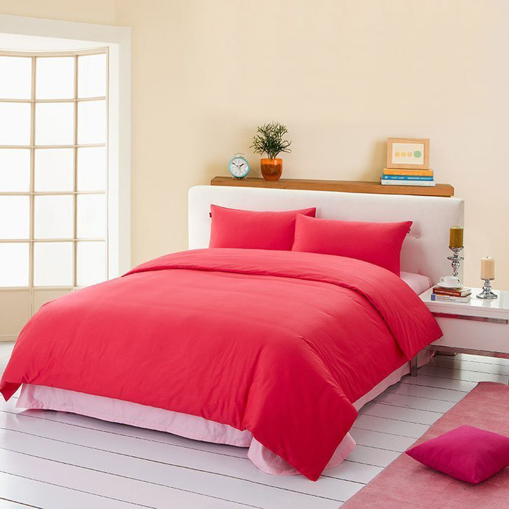 盛宇 簡約現代斜紋純色床單式簡約風 床品件套四件套
