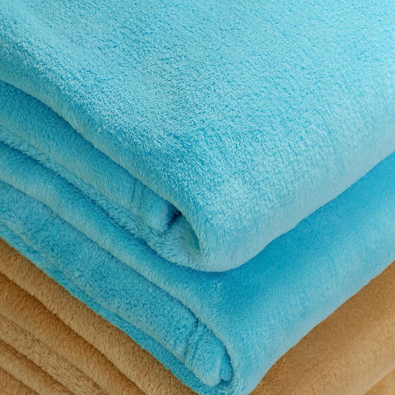 金喜路-珊瑚绒毯夏季纯色简约现代毛毯