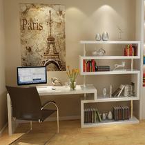 人造板散装电脑桌书架密度板/纤维板木旋转转角简约现代 书桌