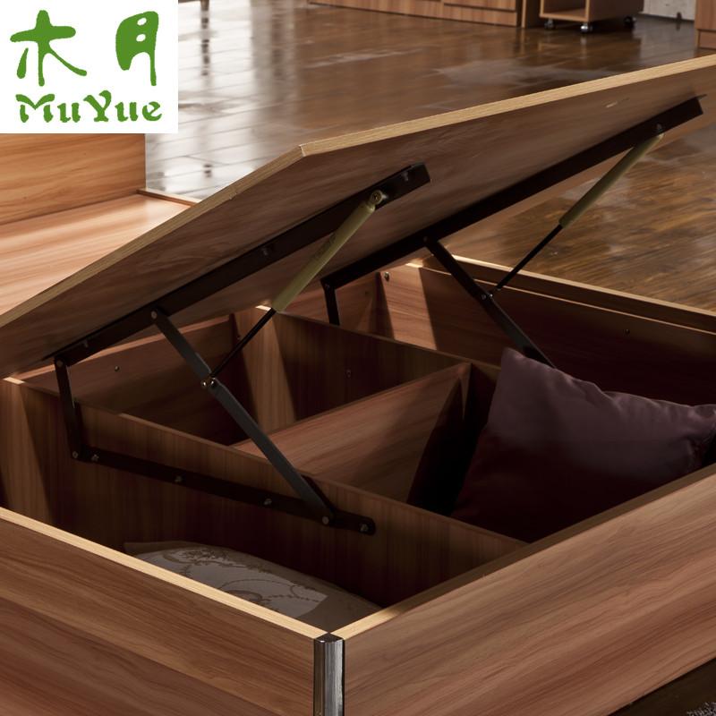 木月 密度板/纤维板组装式箱体床简约现代 床