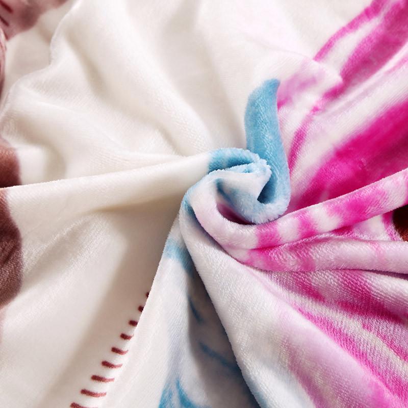 不觉晓-冬季植物花卉欧式毛毯