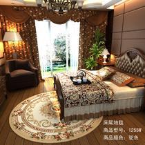 混纺欧式植物花卉圆形欧美机器织造 地毯