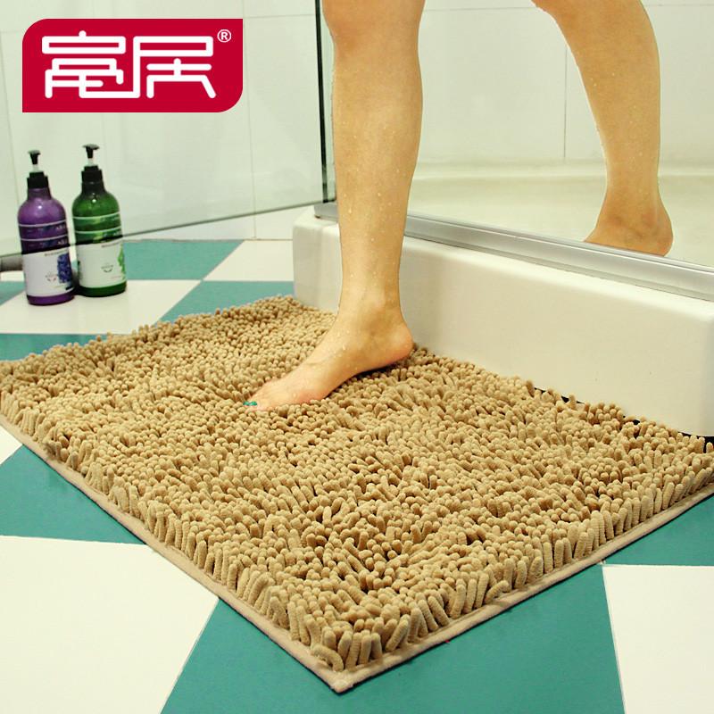 富居 绒面卫浴纯色简约现代机器织造 TC001地垫