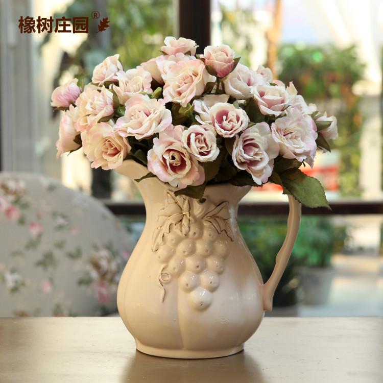 橡树庄园 陶瓷台面-CH1342花瓶中号美式乡村 花瓶