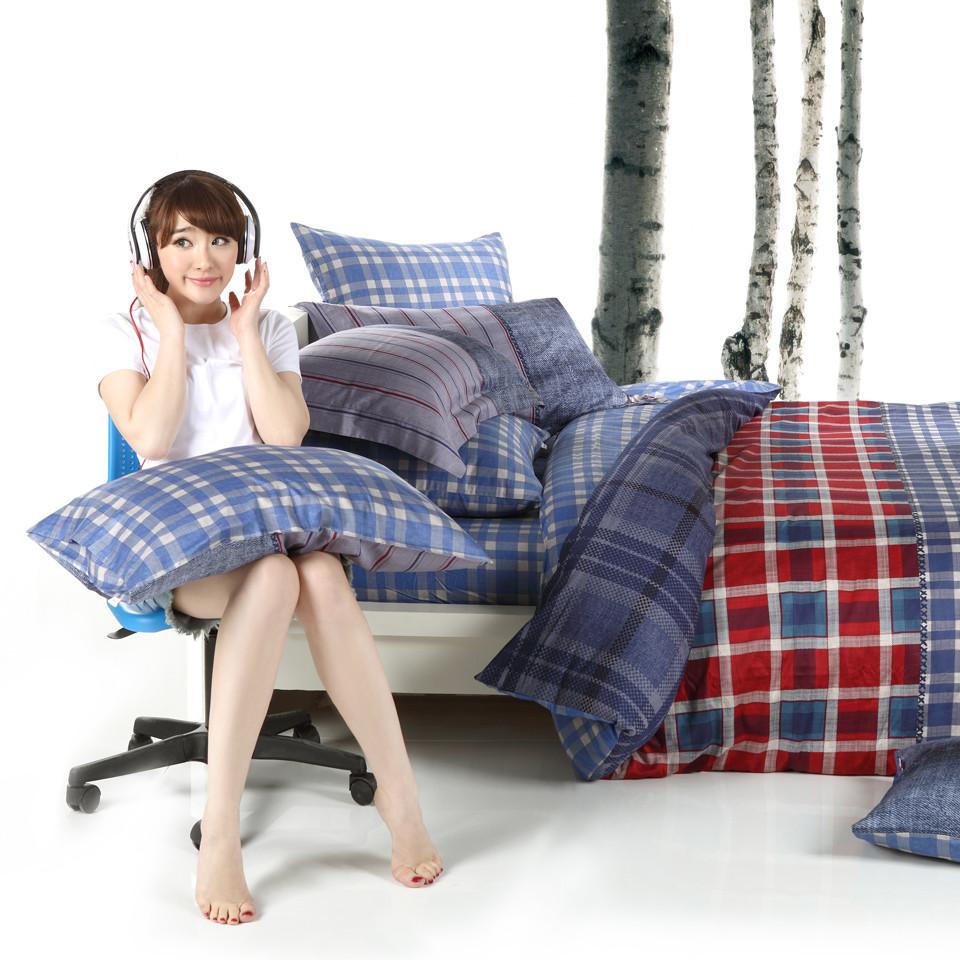 多喜愛 床笠款床單款新古典/后現代條紋床單式簡約風 床品件套四件套