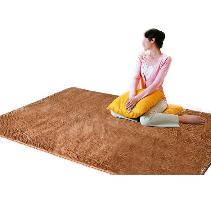 恒亞斯地毯 米白色咖啡灰色駝色化纖簡約現代滌綸純色長方形中國風無紡織造 地毯