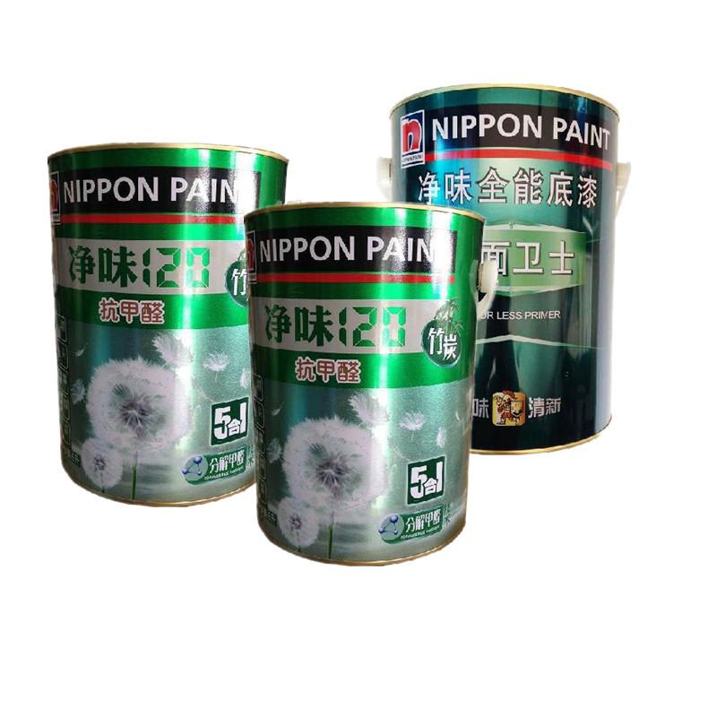 立邦漆单桶面漆套装净味竹炭五合一抗甲醛涂料