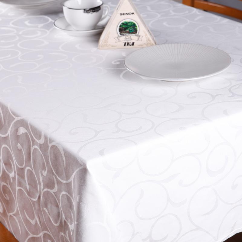 浩然依依 白色布植物花卉現代中式 桌布