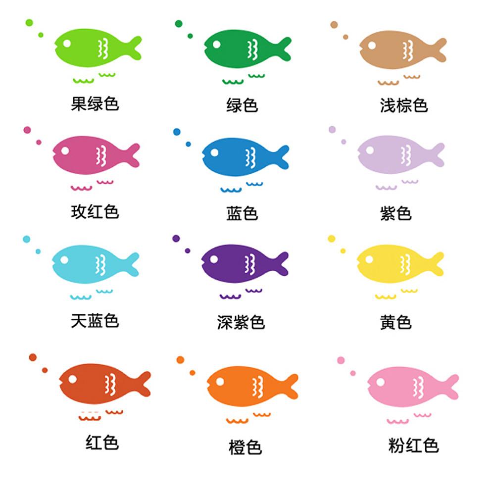 愛格調 卡通動漫 彩色小魚玻璃貼膜