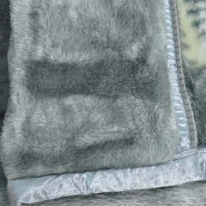 美雅 粉红色浅灰色5%拉舍尔毛毯一等品冬季条纹简约现代 毛毯