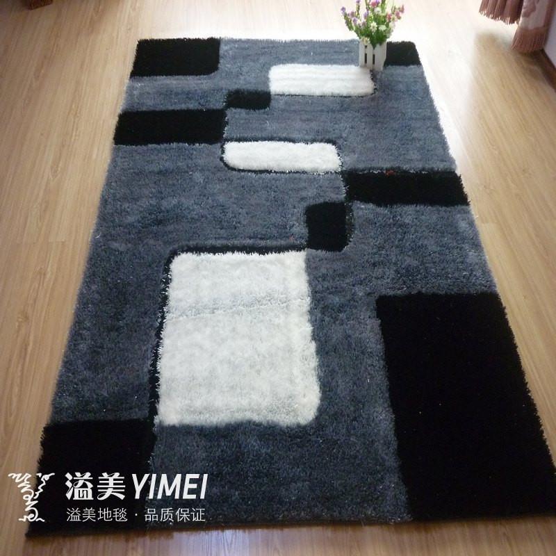 溢美 化纤涤纶几何图案正方形欧美手工织造 地毯