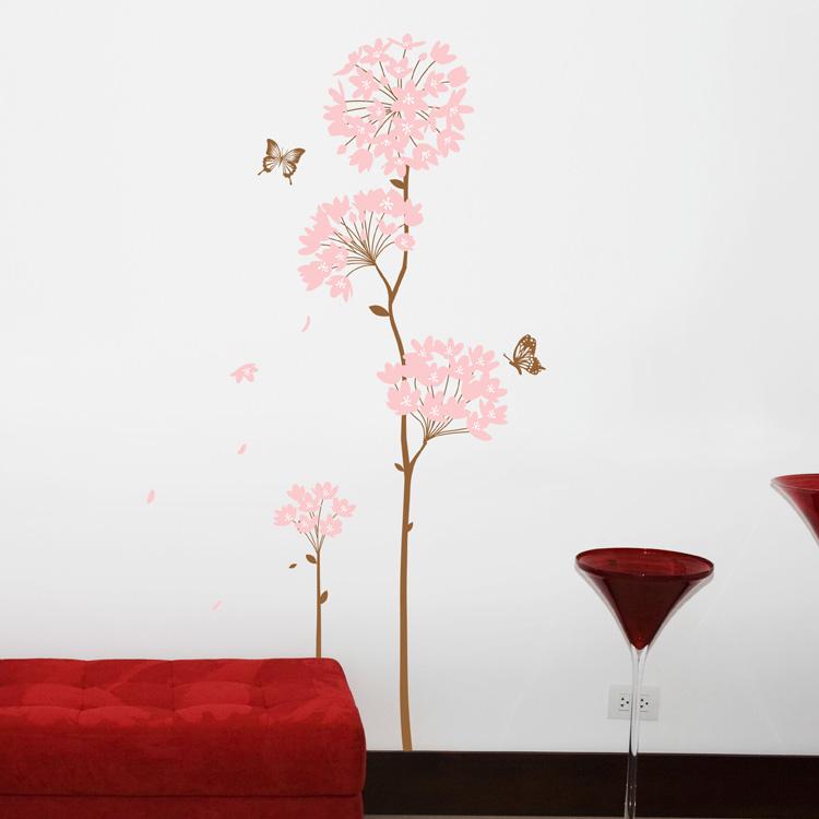 泡泡鱼 绣球花平面墙贴植物花卉 墙贴