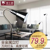 简约现代喷漆磨砂白炽灯节能灯LED 金属落地灯落地灯