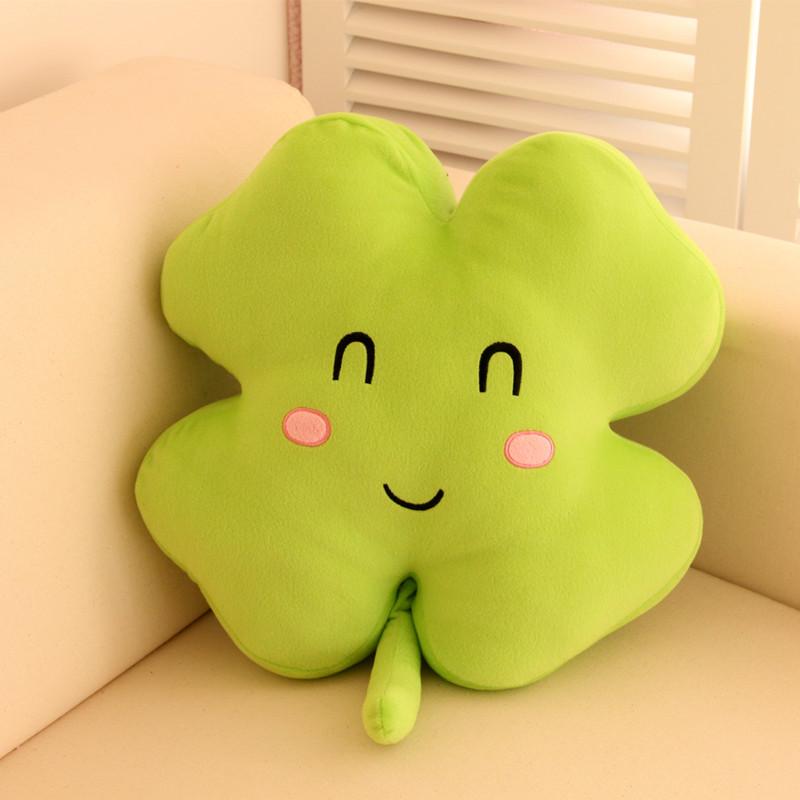 羔羔熊 笑脸迥脸毛绒靠垫pp棉植物花卉韩式 靠垫