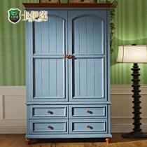 海天蓝楸木储藏平拉门成人美式乡村 衣柜