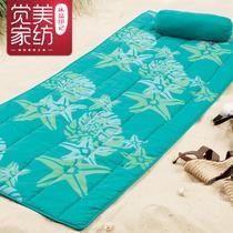 彩虹紫韵海星小鱼混纺植物花卉简约现代 飘窗垫