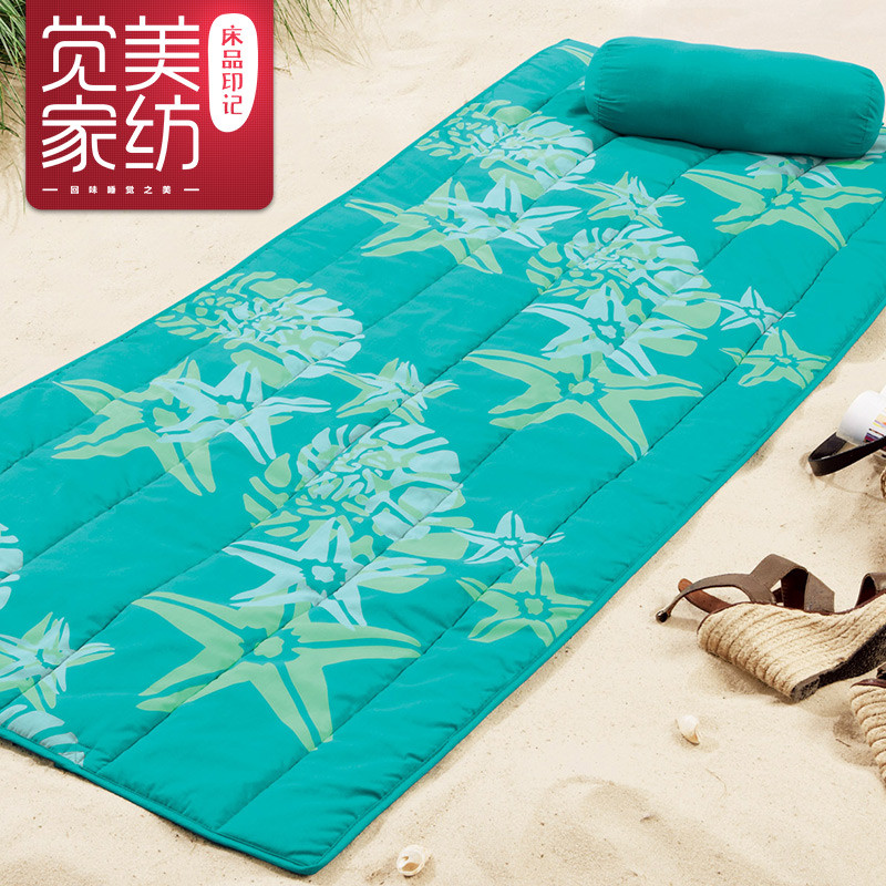 嘉宜美 彩虹紫韵海星小鱼混纺植物花卉简约现代 飘窗垫