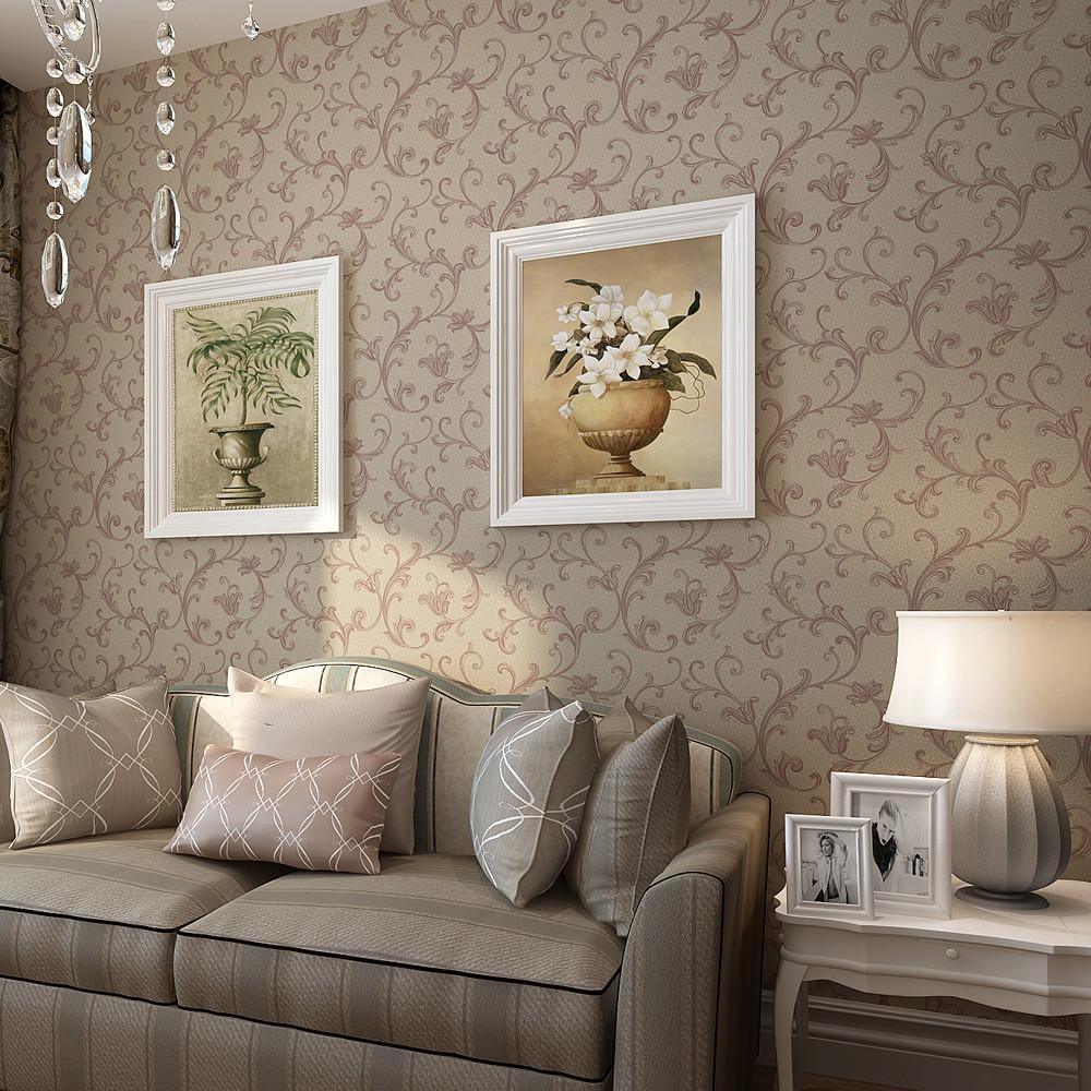 纸尚美学 有图案欧式 墙纸