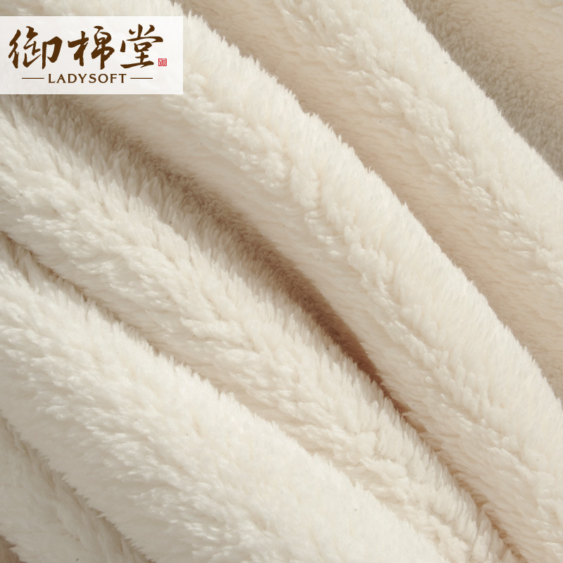 LADYSOFT 2%-3%珊瑚绒毯一等品夏季纯色美式乡村 毛毯
