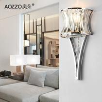 水晶铁简约现代镀铬白炽灯节能灯LED 壁灯