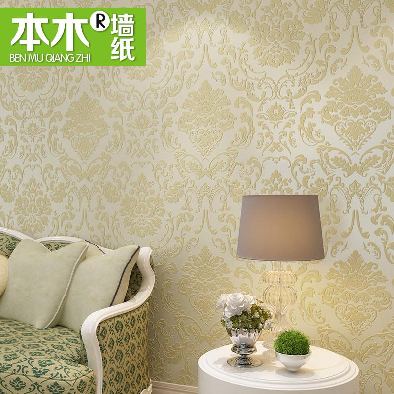 本木 有图案客厅书房卧室老人房欧式 XC62100墙纸
