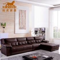 真皮L形木质工艺移动海绵简约现代 沙发