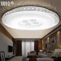 有机玻璃不锈钢简约现代电动冲孔圆形LED 吸顶灯