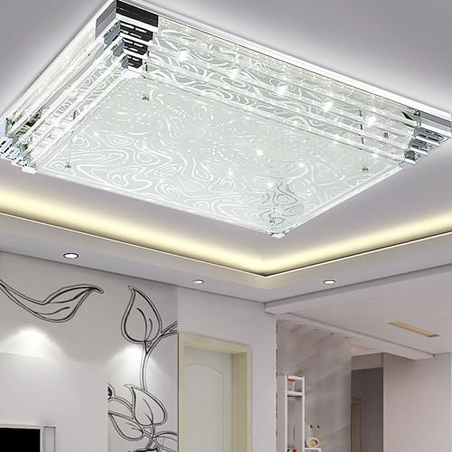 帝歌照明玻璃水晶简约现代吹塑长方形吸顶灯