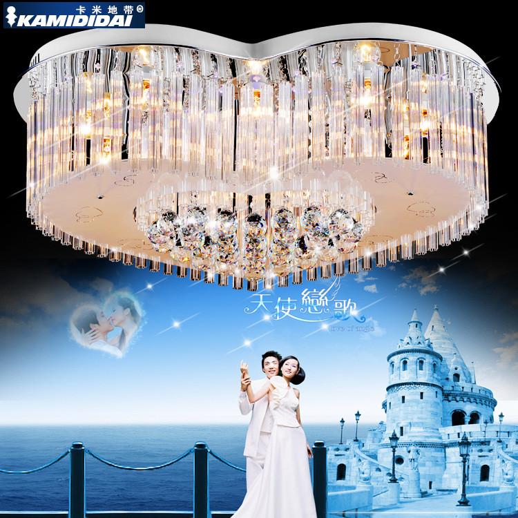 卡米地带水晶不锈钢简约现代电动冲孔白炽灯节能灯吸顶灯