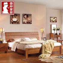 100%纯实木TH216床枫木组装式架子床现代中式 床