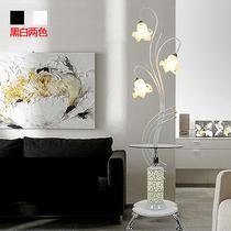 玻璃铁欧式喷漆磨砂白炽灯节能灯LED WK1208白色落地灯