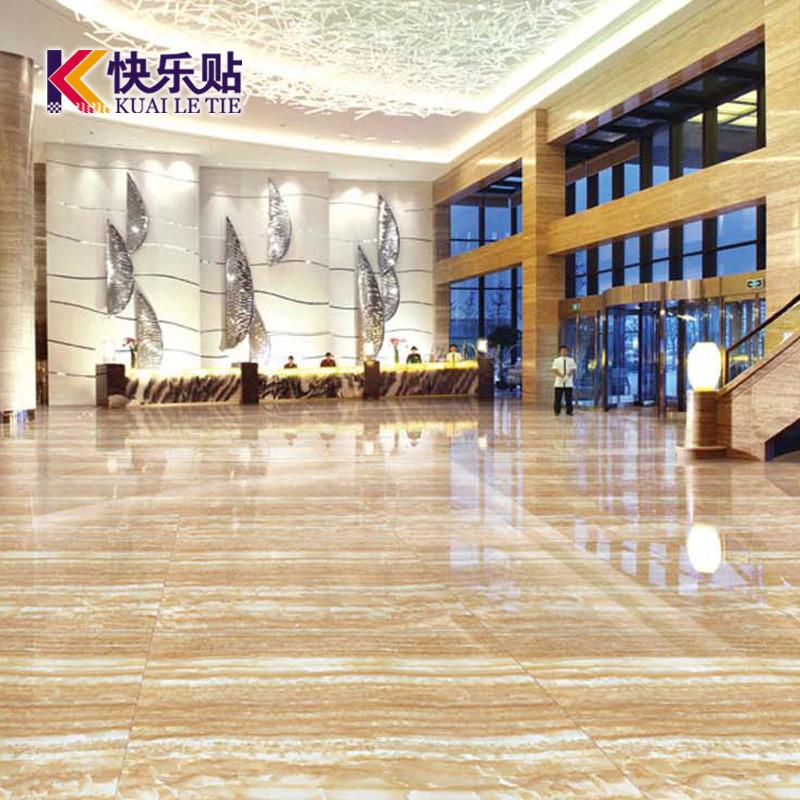 快乐贴 5D高清喷墨釉面砖仿石纹室内地砖欧式 瓷砖