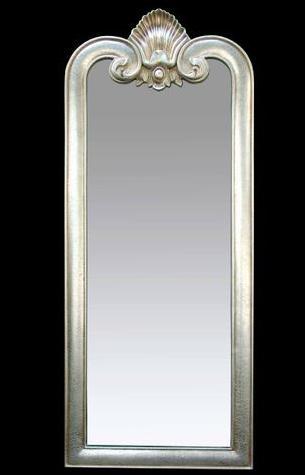 阿西娜 古金色香槟银亮银色悬挂方形欧式 穿衣镜