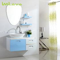 不锈钢含带配套面盆人造石台面E0级简约现代 LV-9221浴室柜