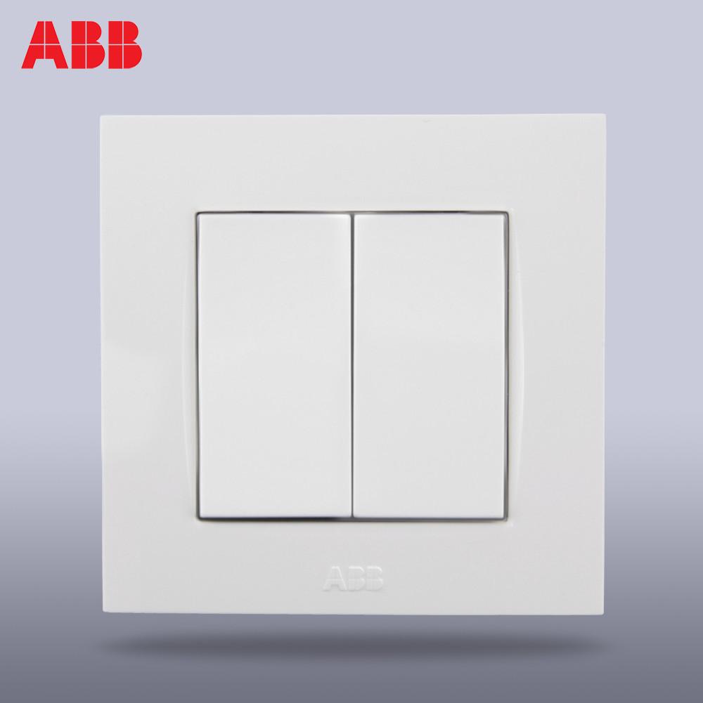 ABB 象牙白86型 由藝AU10253-WW白色開關