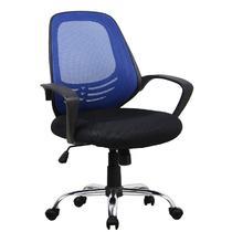 蓝色系波浪纹职工椅/电脑椅皮衣浙江 安吉现代简约 办公椅